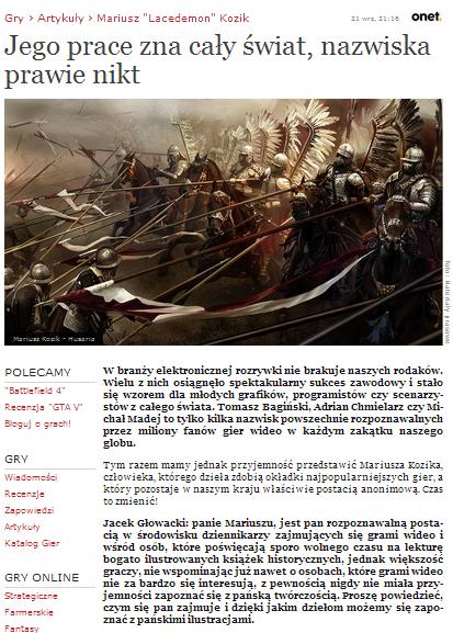 Wywiad dla Onet.pl